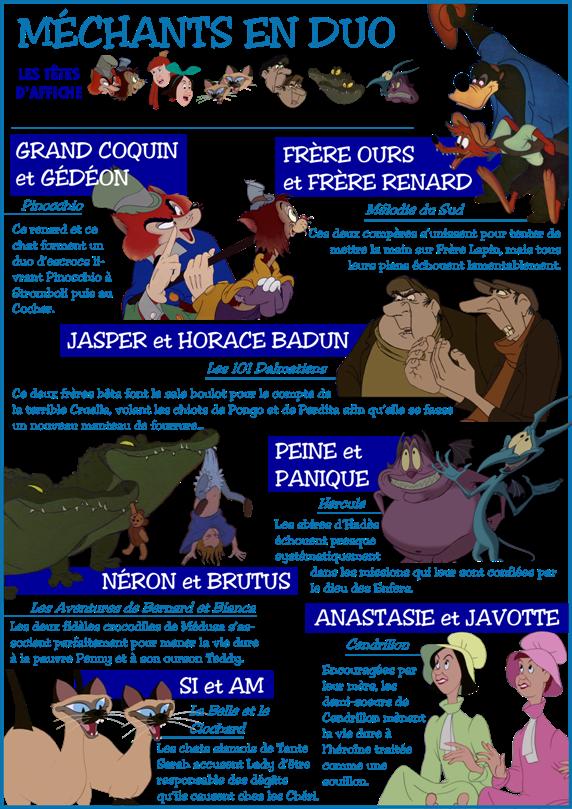 Personnages Disney O Thème Les Méchants En Duo
